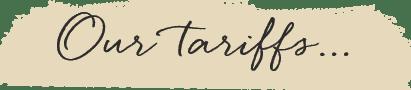 tarriffs