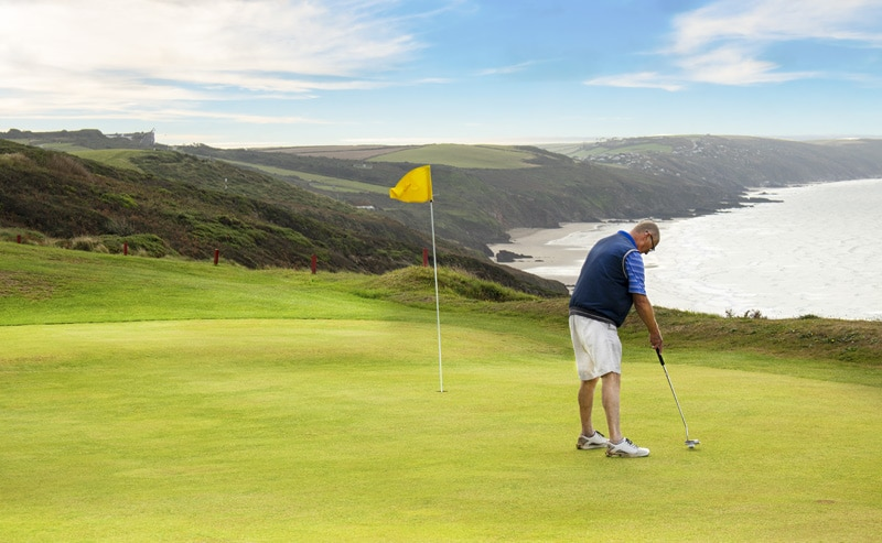 Whitsand Bay golf club sea views