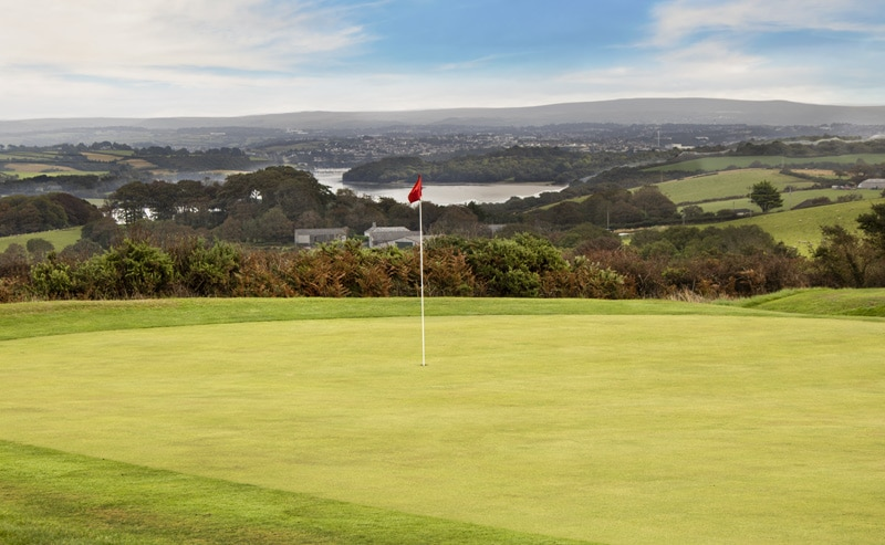 Whitsand Bay golf course Cornish river