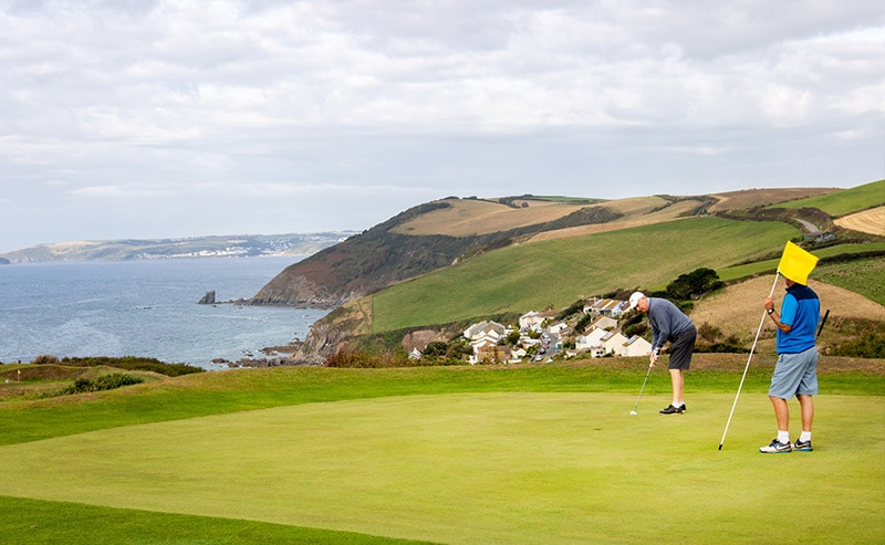 Whitsand Bay Golf Club coastline views