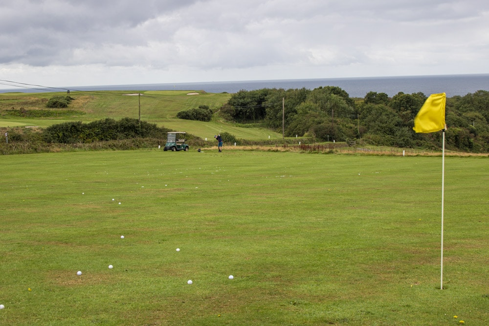 Practice area at Whitsand Bay Golf Club