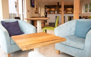 Dovecote seating area at Whitsand Bay Golf Club