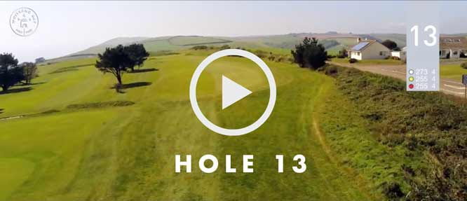 hole 13 Whitsand Bay golf club