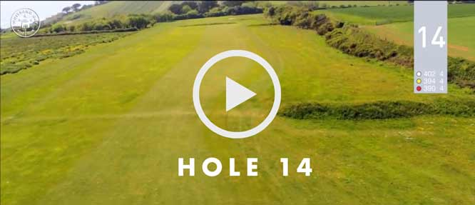 hole 14 Whitsand Bay golf club