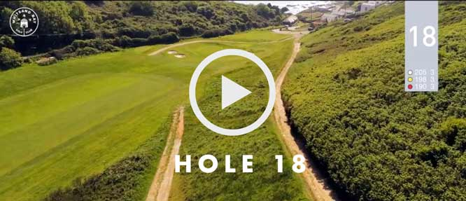 hole 18 Whitsand Bay golf club