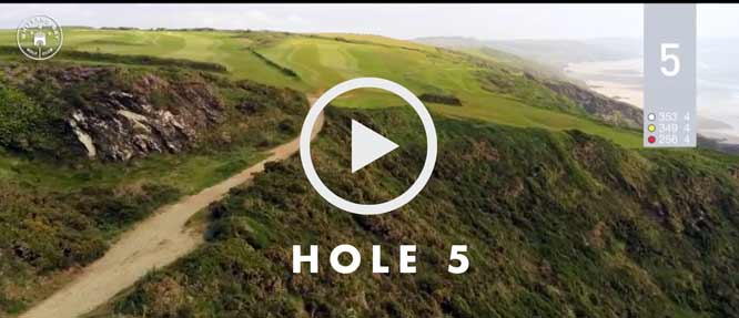 hole 5 Whitsand Bay golf club
