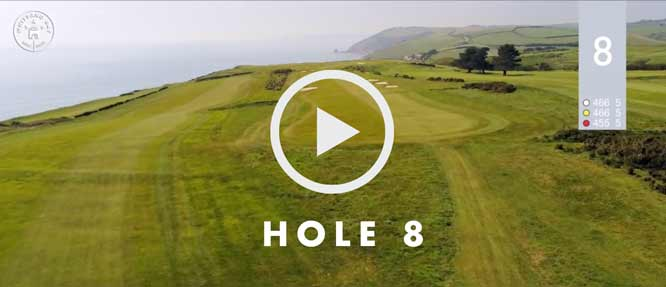 hole 8 Whitsand Bay golf club