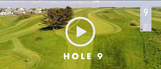 hole 9 Whitsand Bay golf club
